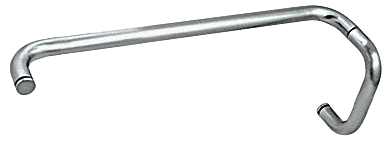 """CRL Polished Nickel 6"""" Pull Handle and 18"""" Towel Bar BM Series Combination Without Metal Washers CRL BMNW6X18PN"""