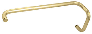"""CRL Satin Brass 6"""" Pull Handle and 18"""" Towel Bar BM Series Combination Without Metal Washers CRL BMNW6X18SB"""