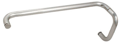 Satin Chrome (BM Series) 6 inch Pull Handle 18 inch Towel Bar Combination without Metal Washers - CRL BMNW6X18SC