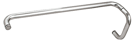 """CRL Polished Chrome 6"""" Pull Handle and 24"""" Towel Bar BM Series Combination Without Metal Washers CRL BMNW6X24CH"""