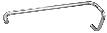"""CRL Polished Nickel 6"""" Pull Handle and 24"""" Towel Bar BM Series Combination Without Metal Washers CRL BMNW6X24PN"""