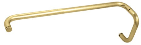 Satin Brass (BM Series) 6 inch Pull Handle 24 inch Towel Bar Combination without Metal Washers - CRL BMNW6X24SB