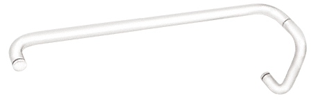 """CRL White 6"""" Pull Handle and 24"""" Towel Bar BM Series Combination Without Metal Washers CRL BMNW6X24W"""