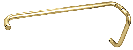 "CRL Polished Brass 8"" Pull Handle and 24"" Towel Bar BM Series Combination Without Metal Washers CRL BMNW8X24BR"