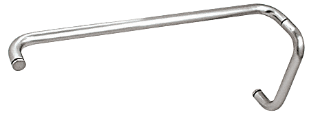 """CRL Polished Chrome 8"""" Pull Handle and 24"""" Towel Bar BM Series Combination Without Metal Washers CRL BMNW8X24CH"""
