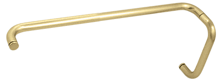 "CRL Satin Brass 8"" Pull Handle and 24"" Towel Bar BM Series Combination Without Metal Washers CRL BMNW8X24SB"