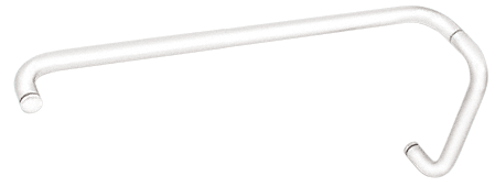 """CRL White 8"""" Pull Handle and 24"""" Towel Bar BM Series Combination Without Metal Washers CRL BMNW8X24W"""