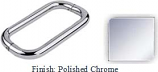 Polished Chrome 8 inch Back-To-Back Tubular 3/4 inch Diameter Pull Handle with Optional Metal Washers - BN608PCR