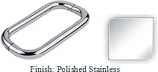 Polished Stainless Steel 8 inch Back-To-Back Tubular 3/4 inch Diameter Pull Handle with Optional Metal Washers - BN608PSS