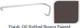 Oil Rubbed Bronze Painted 8 inch Pull Handle and 18 inch Towel Bar Combination with Optional Metal Washers - BNF60818ORB