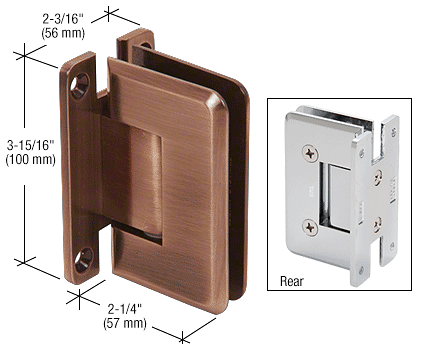 CRL Antique Brushed Copper Cologne 037 Series Wall Mount Hinge CRL C0L037ABC0