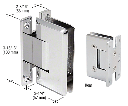 CRL Polished Chrome Cologne 037 Series Wall Mount Hinge CRL C0L037CH