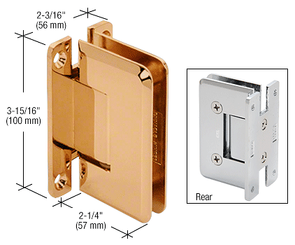 CRL Gold Plated Cologne 037 Series Wall Mount Hinge CRL C0L037GP