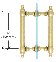 """CRL Satin Brass 6"""" Colonial Style Back-to-Back Pull Handles CRL C0L6X6SB"""