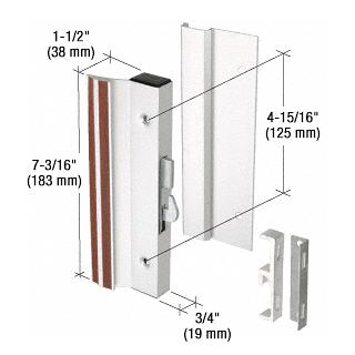 "CRL Aluminum Standard Profile Hook-Style Surface Mount Handle 4-15/16"" Screw Holes CRL C1000"