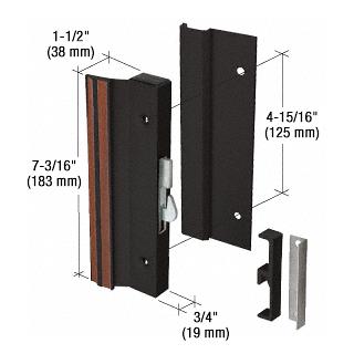 "CRL Black Standard Profile Hook-Style Surface Mount Handle 4-15/16"" Screw Holes CRL C1001"