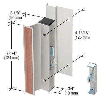"CRL Aluminum High Profile Hook-Style Surface Mount Handle 4-15/16"" Screw Holes CRL C1002"