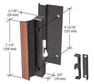 "CRL Black High Profile Hook-Style Surface Mount Handle 4-15/16"" Screw Holes CRL C1003"