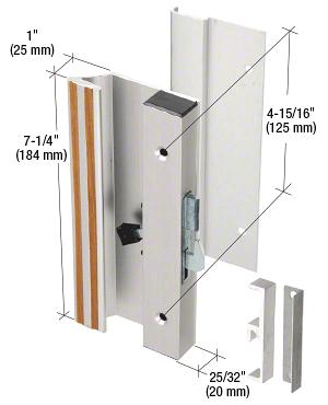 "CRL Aluminum Low Profile Hook Style Surface Mount Handle 4-15/16"" Screw Holes CRL C1004"