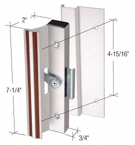 "CRL Aluminum Clamp-Style Surface Mount Handle 4-15/16"" Screw Holes CRL C1005"