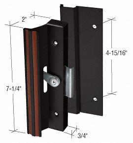 "CRL Black Clamp-Style Surface Mount Handle 4-15/16"" Screw Holes CRL C1006"