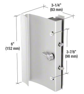 "CRL Aluminum Hook-Style Surface Mount Handle 3-7/8"" Screw Holes for Ador/HiLite Doors CRL C1014"