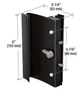 "CRL Black Hook-Style Surface Mount Handle 3-7/8"" Screw Holes for Ador/HiLite Doors CRL C1015"