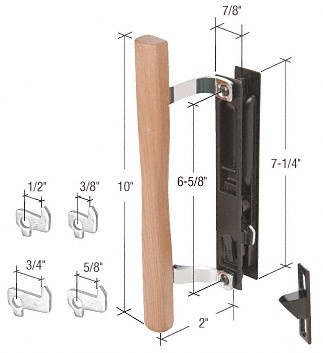 Wood/Black Flush Mount Keyed Handle Set - CRL C1032