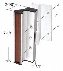 "CRL Aluminum Clamp - Style Surface Mount Handle 3"" Screw Holes for International Doors CRL C1055"