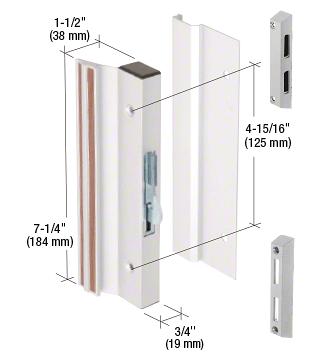 "CRL Aluminum Hook-Style Surface Mount Handle 4-15/16"" Screw Holes CRL C1070"
