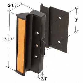 "CRL Black Clamp - Style Surface Mount Handle 3"" Screw Holes for International Doors CRL C1073"