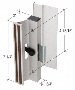 """CRL Aluminum Clamp - Style Surface Mount Handle with 4-15/16"""" Screw Holes for Lupton and Rolleze Doors CRL C1077"""
