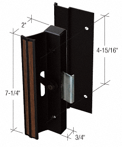 """CRL Black Clamp Style Surface Mount Handle with 4-15/16"""" Screw Holes for Lupton and Rolleze Doors CRL C1078"""