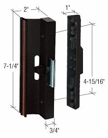 "CRL Black Clamp - Style Surface Mount Handle 4-15/16"" Screw Holes CRL C1106"