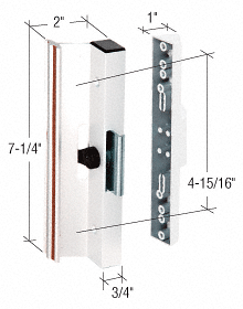 """CRL White Clamp - Style Surface Mount Handle 4-15/16"""" Screw Holes CRL C1116"""