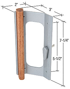 Wood/Aluminum Mortise-Style Handle 5-1/2 Inch Screw Holes - CRL C1155