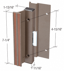 "CRL Bronze Clamp-Style Surface Mount Handle 4-15/16"" Screw Holes CRL C1163"