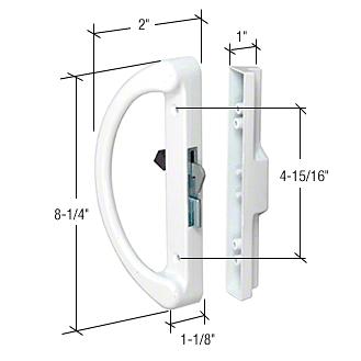 """CRL White Surface Mount Handle Set 4-15/16"""" C-T-C Hole CRL C1253"""