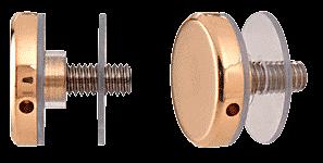 """CRL Brass 1-1/4"""" Diameter Standoff Cap Assembly CRL CAP114BR"""