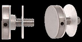 "CRL 316 Brushed Stainless 1-1/4"" Diameter Standoff Cap Assembly CRL CAP114BS"