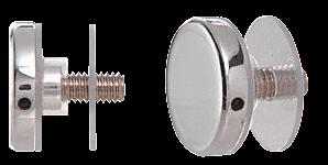"""CRL Chrome 1-1/4"""" Diameter Standoff Cap Assembly CRL CAP114CH"""
