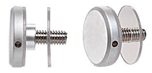 "CRL Satin Chrome 1-1/4"" Diameter Standoff Cap Assembly CRL CAP114SC"