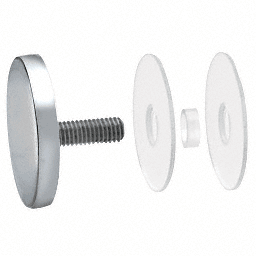 "CRL 316 Polished Stainless 2"" Diameter Standoff Round Cap Assembly CRL CAP2PS"