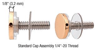 """CRL Brass 3/4"""" Diameter Standoff Cap Assembly CRL CAP34BR"""