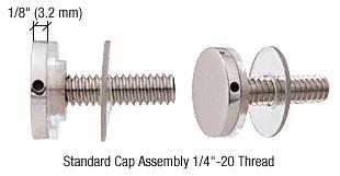 """CRL Chrome 3/4"""" Diameter Standoff Cap Assembly CRL CAP34CH"""
