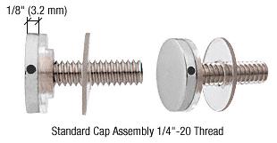 "CRL Satin Chrome 3/4"" Diameter Standoff Cap Assembly CRL CAP34SC"