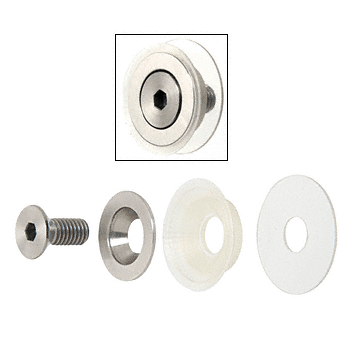 "CRL Brushed Stainless Flush Mount Cap Assembly for 1-1/4"" Diameter Standoffs CRL CAPF114BS"