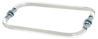 """CRL 12"""" Acrylic Smooth Back-to-Back Towel Bar With Chrome Rings CRL CATB12X12CH"""