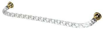 "CRL 24"" Acrylic Twist Single-Sided Towel Bar With Brass Rings CRL CATBT24BR"