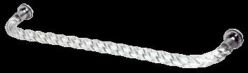 """CRL 24"""" Acrylic Twist Single-Sided Towel Bar with Chrome Rings CRL CATBT24CH"""
